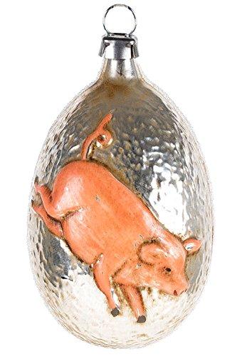 Marolin Good Luck Pig MA2011074 German Glass Ornament w/Gift Box