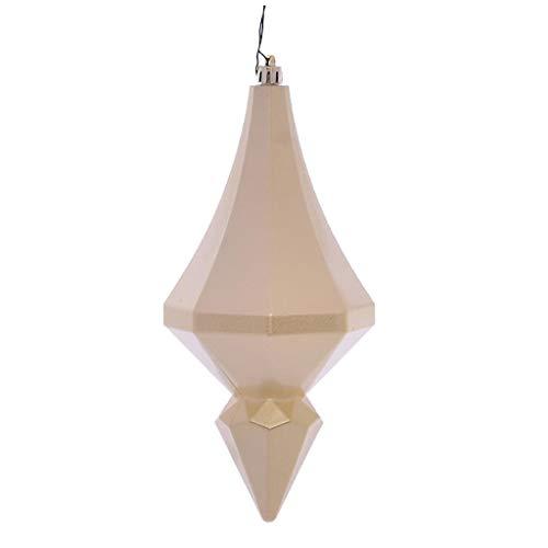 Vickerman 619858-8″ Champagne Candy Diamond Finial Christmas Tree Ornament (2 pack) (MC191038D)