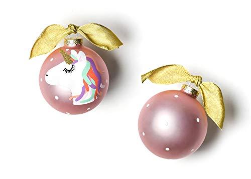 Coton Colors Unicorn Glass Ornament