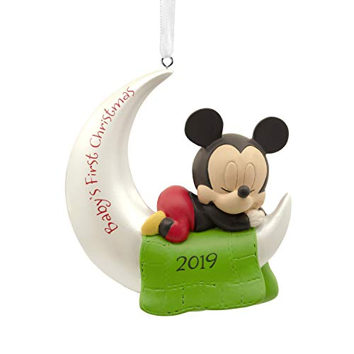 Hallmark Christmas Ornaments 2019 Year Dated, Disney Mickey Mouse Baby's First Christmas Ornament