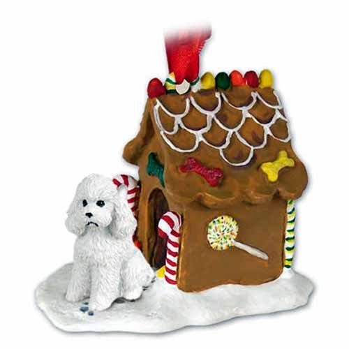 Conversation Concepts NEW White Poodle Puppycut Ginger Bread House Christmas Ornament