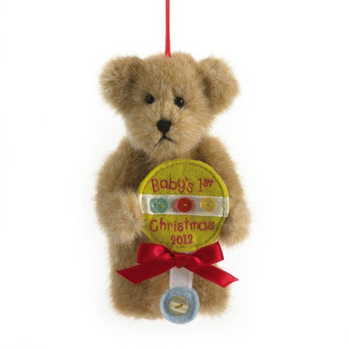 Enesco Boyds Plush 5-Inch Holiday Thinking of You Ornament, Baby 's 1st Christmas