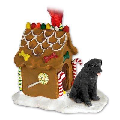 Black Lab Labrador Retriever Gingerbread House Christmas Ornament