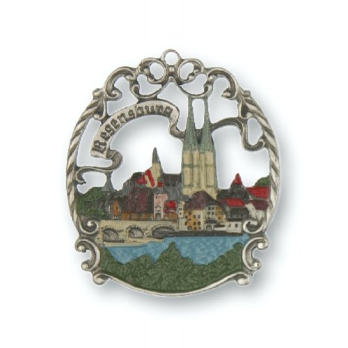 Pinnacle Peak Trading Company Regensburg Germany German Pewter Christmas Ornament Made in Germany Decoration