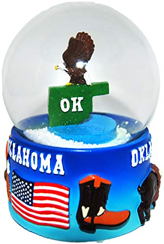 Collection of City and States Detailed 65mm Snow Globes (Oklahoma)