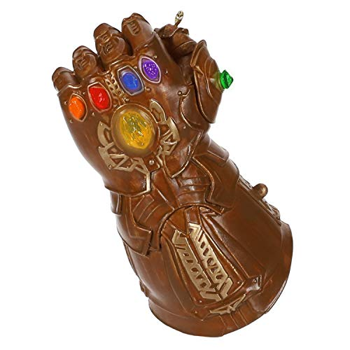 Hallmark Keepsake Christmas Ornament 2019 Year Dated Marvel Studios Avengers: Endgame Infinity Gauntlet with Light, Guantlet