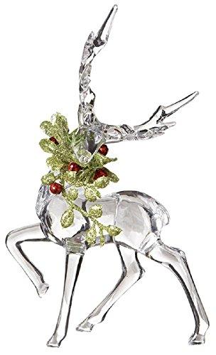 Ganz Kissing Krystals Christmas Acrylic 6″ Mistletoe Reindeer Figurine