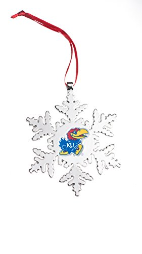 Collegiate Pulse Kansas Jayhawks NCAA Snowflake Christmas Ornament