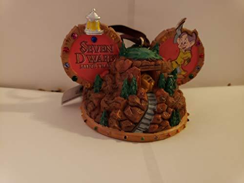 Parks Disney 7 Dwarfs Mine Train Mickey Ears Ornament