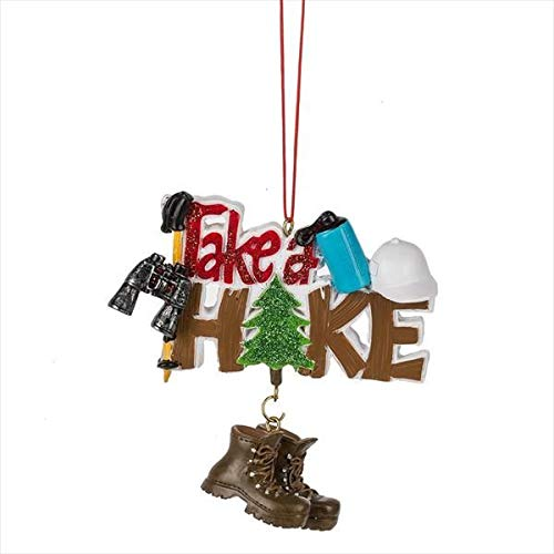 Midwest-CBK 4″ Take A Hike Christmas Ornament 150363