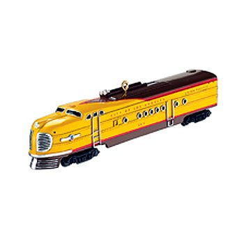 Carlton Heirloom Union Pacific Yellow Train Christmas Ornament #CXOR-122R
