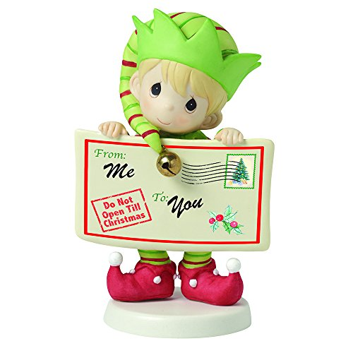 """Precious Moments, Joy, Peace and Christmas Cheer in Here"""", 1st in Annual Elf Series, Bisque Porcelain Figurine, 161036"""