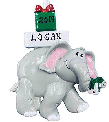 Rudolph and Me Personalized Elephant Christmas Ornament 20019