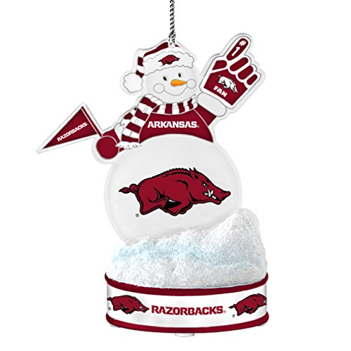 NCAA Arkansas Razorbacks LED Snowman Ornament