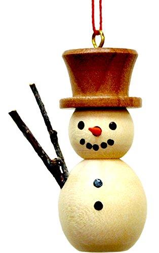 Alexander Taron Importer 10-0212 Christian Ulbricht Ornament – Snowman – 1.75″ H x 1.5″ W x 1″ D, Brown