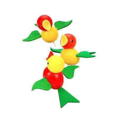 Alexander Taron Importer 11-0026 Christian Ulbricht Ornament – Birds on Pin – 1.5″ H x 2.5″ W x 2.25″ D Green