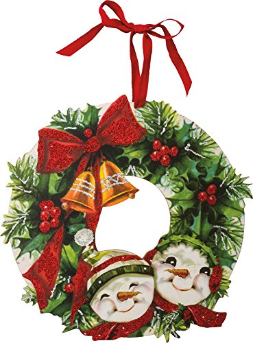 Primitives by Kathy Vintage Christmas Wreath, Holly