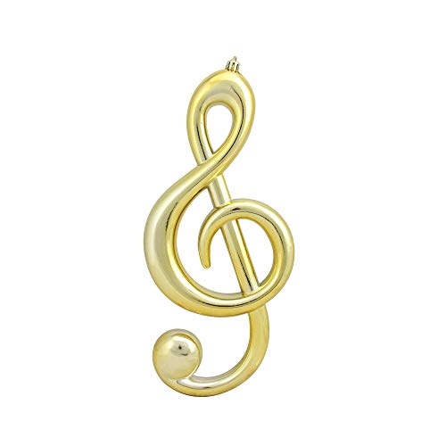 Mark Roberts 12.25″ Royal Symphony Glamourous Gold Musical G-Clef Christmas Ornament