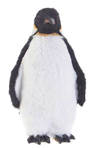 RAZ Imports Faux Fur Penguin Figurine Ornament – 6.5″