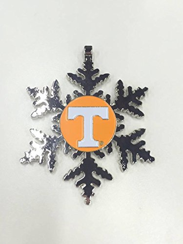 Collegiate Pulse University of Tennessee Volunteers NCAA Snowflake Christmas Ornament