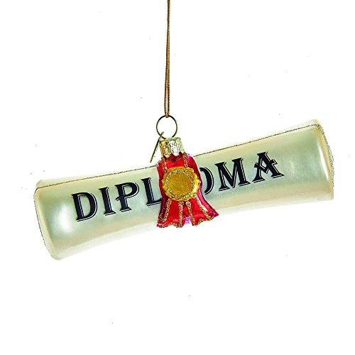 Kurt Adler Kurt S. Adler Noble Gems Diploma Glass Ornament