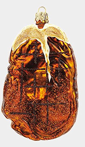 Pinnacle Peak Trading Company T-Bone Steak Food Polish Mouth Blown Glass Christmas Ornament