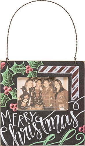 Primitives by Kathy Merry Christmas 4.5 Square Hanging Mini Frame – Fits 3 x 2 Photo