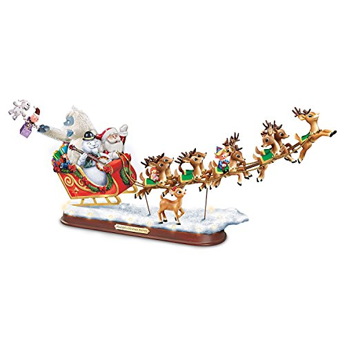 The Bradford Exchange Rudolph The Red-Nosed Reindeer Sculpture: Lighted Musical Holiday Decoration