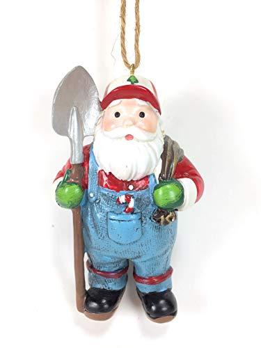 Midwest-CBK Farmer Santa 4″ Ornament