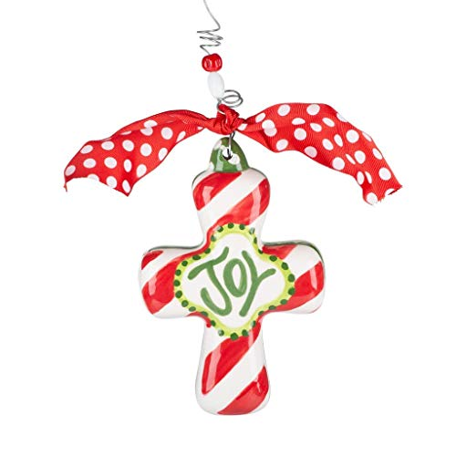 Glory Haus Cross Puff Holiday Ornament (Joy)
