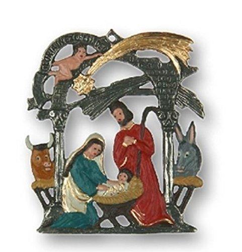 Pinnacle Peak Trading Company Christmas Nativity Scene Gloria German Pewter Ornament Decoration Germany