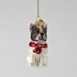 Kurt Adler Noble Gems French Bulldog Ornament