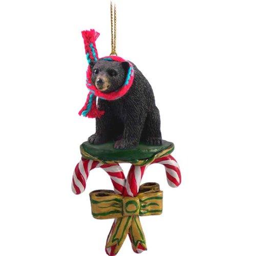 Conversation Concepts Black Bear Candy Cane Christmas Ornament