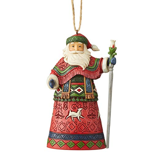 Enesco Jim Shore Heartwood Creek Lapland Santa W/Staff HO