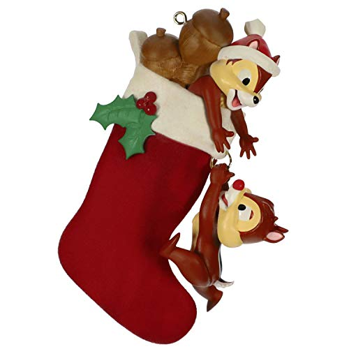 Hallmark Keepsake Christmas Ornament 2019 Year Dated Disney Chip and Dale Stocking Stuffers,