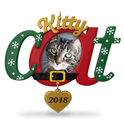 Hallmark Keepsake Christmas Ornament 2018 Year Dated, Kitty Cat Picture Frame, Photo Frame