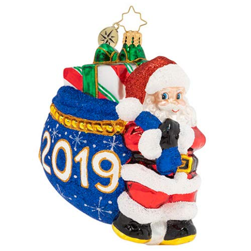 Christopher Radko Santa's 2019 Delivery Christmas Ornament, Multicolor