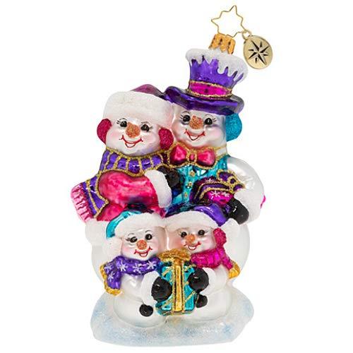 Christopher Radko Our Festive Frosty Family Christmas Ornament, Multicolor