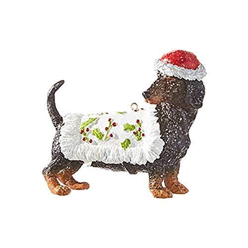 RAZ Imports Dog Ornament – Dachshund Christmas Ornament