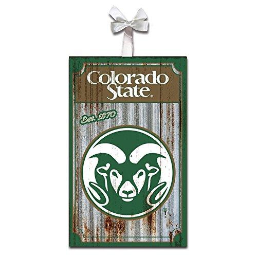 Team Sports America Colorado State Rams Corrugated Metal Ornament