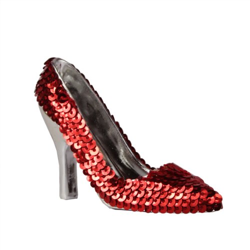 Midwest Gloves 3.5″ Fashion Avenue Red Sequined High Heel Shoe Christmas Ornament