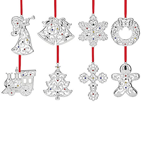 Holiday Silverplated 8-piece Ornament Set 2015