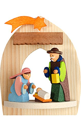 Alexander Taron Importer 4721 Graupner Ornament – Holy Family – 3.25″ H x 2.75″ W x 1.25″ D Brown