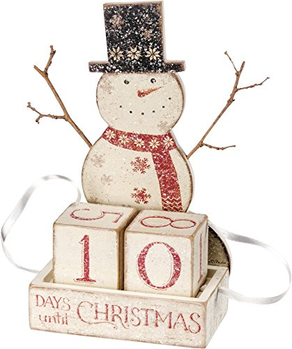 Primitives by Kathy Nordic Countdown Block, Snowman