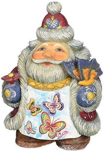 G. Debrekht Illustrated Santa with Butterflies