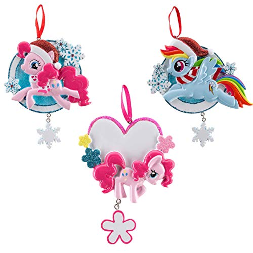 Polar X (Set of 3 Random My Little Pony Customizable Hanging Holiday Ornaments for Christmas Tree Xmas