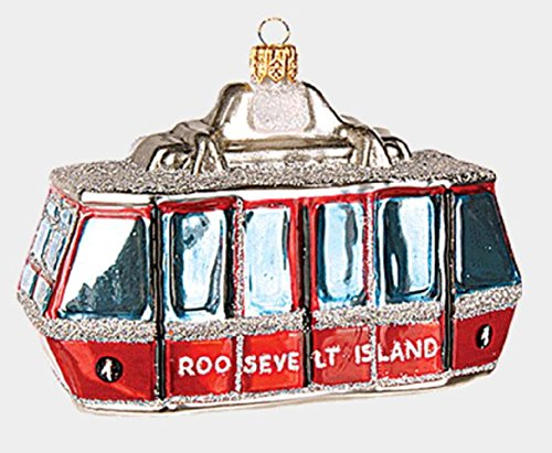Pinnacle Peak Trading Company Roosevelt Island Cable Car Polish Glass Christmas Ornament New York City NY USA