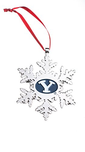 Collegiate Pulse BYU Cougars (Brigham Young University) NCAA Snowflake Christmas Ornament