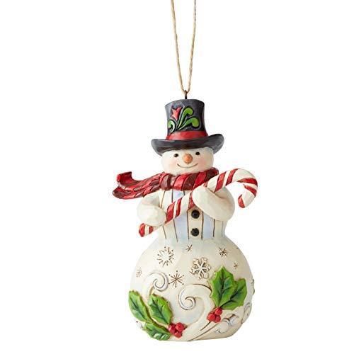 Enesco Jim Shore Heartwood Creek Snowmwan W/Candy Can Hanging Ornament