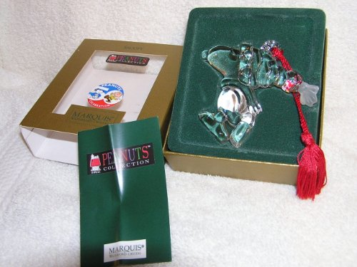 Waterford Marquis Peanuts Collection 50th Anniversary Ornament – Snoopy With Winter Hat